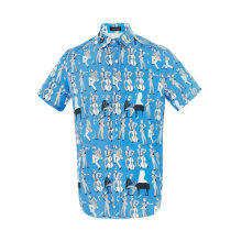 Men's Funky Hawaiian Printed Shirts Floral Short Sleeve Casual Button Down Shirt