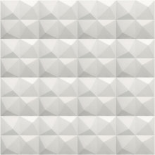 LORYRO PVC Wall Bricks Home Decor Plant Fiber DIY Square Diamond-Texture 32 sq ft. 19.7''x19.7''