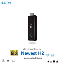 EZCast H2 HDMI Wireless Display Receiver 1080P Airplay Miracast Dongle for TV Compatible with Phone Tablet PC to Display 2.4G&5G Dual Band