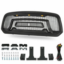 For 2013-2018 Dodge Ram 1500 Front Grille Mesh Grille Rebel Style With LED Lights