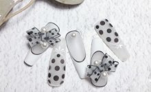 Black Ballet Shoes Fake Nails/Press On Nails/Handmade