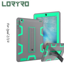 Fashion *pad Case 9.7 Inch Kickstand Flat PC TPU Cover Protection Shockproof Cover Light-Green