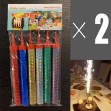 Nispet 12pcs Holiday/Birthday Cake Candles Multi Color Party Supplies Smokeless Low Temperature Flame
