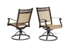 [Pickup Only] Swivel Rocker Chair, Cast Aluminum All-Weather Comfort Club Arm Patio Dining Chair 2 Pcs