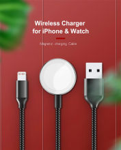 Wireless charger cable portable mobile phone charging for apple watch charging 2 in 1 charging cable for iPhone