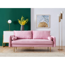 "Velvet Fabric sofa with pocket-71""pink"