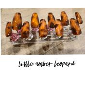 Little Amber Leopard Press On Nails/Fake Nails/Handmade