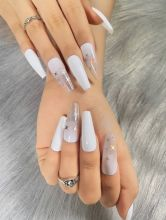 Four-pointed star fake nails/Ballerina Nails/Coffin nails