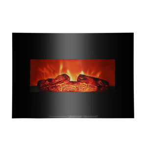 26 Inch 3DInfrared Mounted Electric Fireplace Insert Portable Indoor Space Heater 1400W