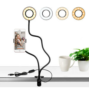 Free shiping Pixco Selfie USB Ring Light w Stand Phone Holder Live Video Vlog Smartphone