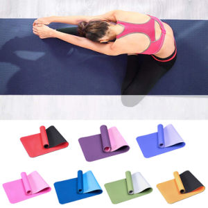 6mm TPE Anti-slip Thicken Gym Fitness Training Exercise Pilates Yoga Mat Cushion