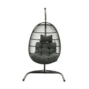 Fast dispatch Choose high-quality PE rattan stainless steel swing chair hammock basket single swing chair