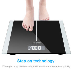 400lb/180kg Smart Digital Body Weight Scale Bathroom Fitness Backlit LCD Display