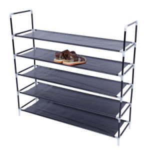 Durable and Stable Shoe Organizer 25 Pairs Space Saving Shoe Tower Non-Woven Fabric Shoe Shelf