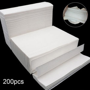 200 Sheets Disposable Natural Wood Pulp Thickened Napkin Paper Toilet Tissues