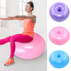 50cm Donut Gym Exercise Workout Fitness Pilates Inflatable Balance Yoga Ball