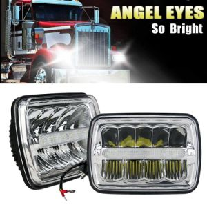 Colight 2PC 5X7 Inch Rectangular LED Headlight Sealed Beam LED Headlight for H6052 H6053 H6054 H6014 Wrangler JK YJ CJ TJ MJ XJ Mack Tacoma Headlight 2PC