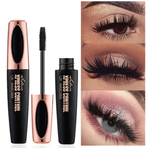 (3sets/piece) Hot Sale Waterproof Thick Slender Curled Silicone Brush Head 4D Mascara Eyeliner Combination