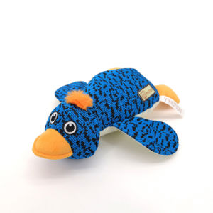 J.CARP Duck Shape Dog Toy, Lovely and Squeaky for Interactive Teething Cleaning Chewers