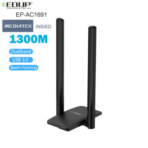 EDUP 1300Mbps USB 3.0 WIFI Adapter Dual Band 5Ghz/2.4Ghz USB AC Network Card Wifi Long Range Receiver Antena for Laptop Desktop