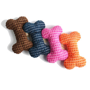 J.CARP Cute FlyKnit Durable Squeaky Bone Shaped Dog Toy for Aggressive Chewers, FlyKnit Bone