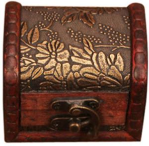 luxurious vintage style wooden jewelery case,treasure jewelery box