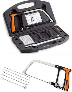 15-in-1 Universal Hand Saw Kit Toolbox Of Multi Blades Set Works As Hacksaw Coping Bow Jab Rip Pruning Chain Handsaws A Cutter Suitable
