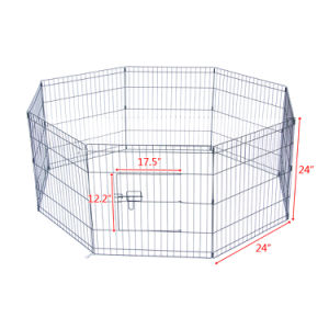 "24""  30'' Tall Wire Fence Pet Dog Cat Folding Exercise Yard 8 Panel Metal Play Pen"