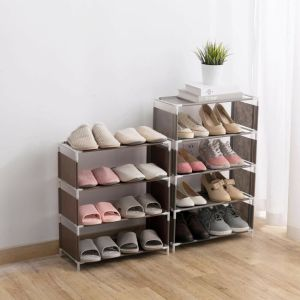 4,5 layer shoe rack shoe cabinet storage bag storage household storage bag saves space