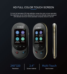 2.4- inch touch screen  AI Voice Photo 106 Languages Voice Translator