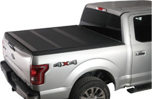 Xcover Hard Tonneau Cover, Low Profile Folding Truck Bed, Fit 2019 Ram 1500 5.7ft Short Bed Only (NOT For Track Sys.)