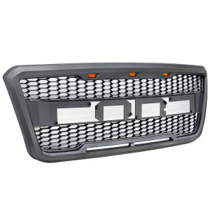 For 2004-2008 Ford F-150 F150 SVT Raptor Style Conversion Front Grille With LED