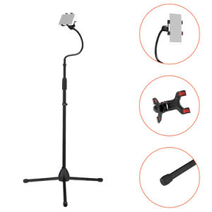 Cell Phone Stand Adjustable Height & Angle Phone Holder Flexible Long Arm Headboard Bedside Lazy Bracket Side Clamps Extend 4.3 Inch Suit For Live Broadcast, Online Class, Face Time, Zoom Meeting, Vid