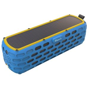 CYBORIS Solar Bluetooth Speaker ES-T63 30 Hours Playtime Portable Upgraded 2nd Generation Wireless HiFi Speaker for Outdoors with Built-in Mic and Emergency Light