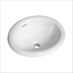 CHANGIE 1004W Bathroom Top Mount Vanity Sink Porcelain Drop In Basin, White, 17X15 Inches