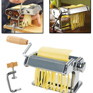 US stock Stainless Steel Manual Split Noodle Pressing Machine Noodle Roller Household DIY Noodles
