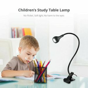 Free shipping 1 Pack Black Reading Lamp Cold Light Flexible USB Foldable Bedside Table Lamps