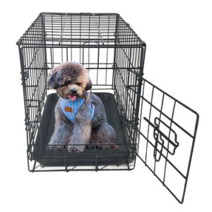 "20"" Pet Kennel Cat Dog Folding Cage Crate Wire Metal Steel 1 Door"