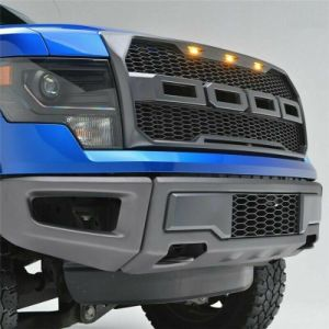 For 2009-2014 Ford F150 Raptor Style Conversion Front Hood Grille With LED Lights