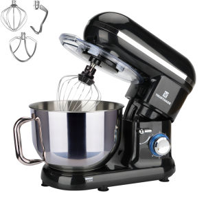 5.8QT 6 Speed Control Electric Stand Mixer with Stainless Steel Mixing Bowl Food Mixer TRUSTMADE