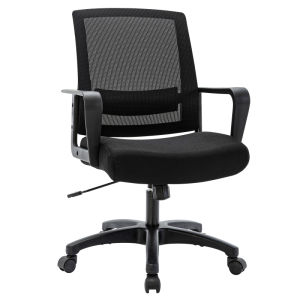 Free Shipping Mesh Task Chair with Armrest Black