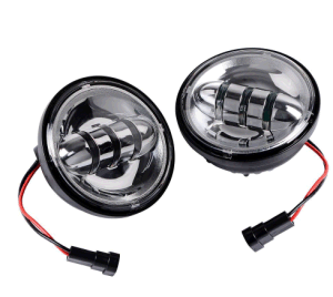 "2pcs 4-1/2"" 4.5"" black LED Auxiliary Daymaker Fog Passing Light"