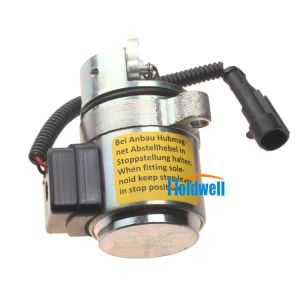 Holdwell Shut Off Solenoid Engine Fuel Shutdown Device 04272956 Replace of Deutz BF4M2011 BF4M2012 12V