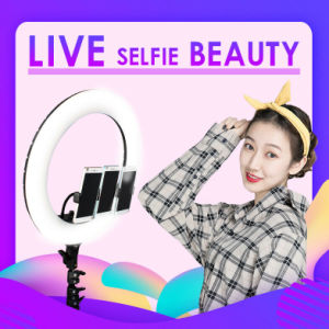 Free shiping 18 inch LED Ring Light with Tripod Stand, Adjustable Color Temperature 2800k to 5600k Makeup Ring lights with Phone Holder, Carrying Bag, Soft Tube, Bluetooth for Camera, YouTube