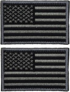 2 Pieces Tactical USA Flag Patch - American Flag US United States of America Military Uniform Emblem Patches - United States Flag Patch