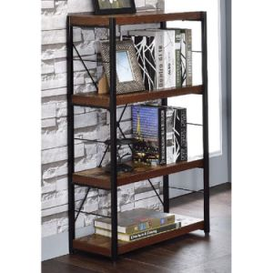 Free shipping Bookshelf, double wide 5 floor open bookcase vintage industrial large bookshelf, wood and metal bookshelf, for home decor display, office furniture