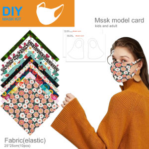 Face Cover Fabric Kit DIY Self Material Set Square Towel Cloth Made Face Protector Material DIY Art Sewing Crafts Kit Homemade DIY Accessories Supplies 10 pcs