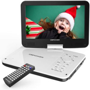 "DBPOWER 10"" Swivel Display Screen, 12"" Portable DVD Player with 5-Hour Rechargeable Battery"