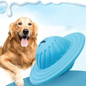 Pet Leaking Bite Toy Multi-Functional Pet Rolling Leaking Frisbee The Leaker Contains A Milky Fragrance That Attracts The Attention of The Dog and Increases The Interest of The Pet.