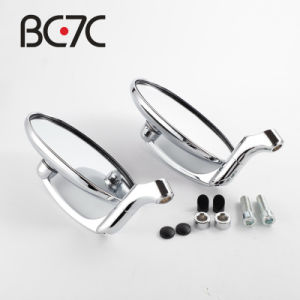 Motorcycle Accessories Round Chrome Rear View Mirrors Motorbike Universal Adjustable M10 Oval Side Mirror For Harley